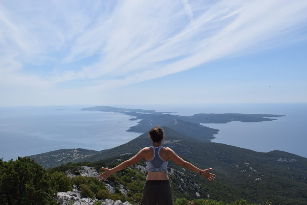 View from highest point of Osorcica - must see on Croatia van trip