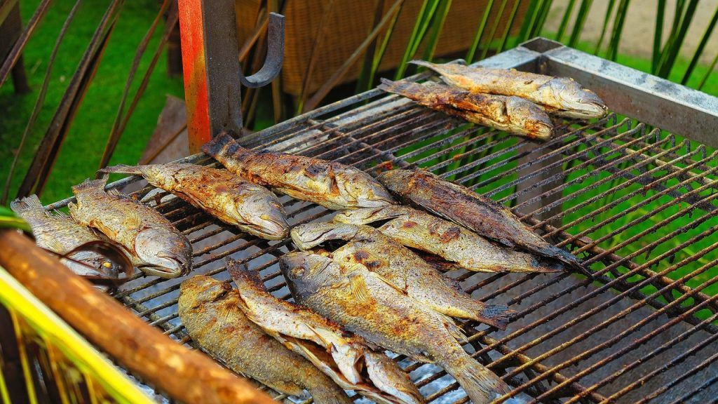 While on van holiday in Croatia, must try is fish made in traditional way over an open fire.